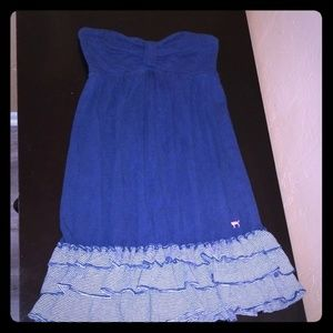 Mini summer dress with ruffles